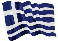 Fahnen Aufkleber Sticker Griechenland wehend