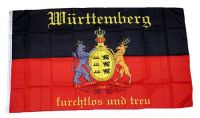 Fahne / Flagge Württemberg Schrift 90 x 150 cm