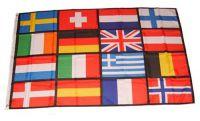 Flagge / Fahne Europa 16 Länder Hissflagge 90 x 150 cm