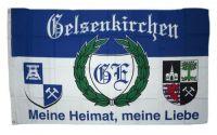 Fahne / Flagge Gelsenkirchen Meine Heimat 90 x 150 cm