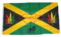Fahne / Flagge Jamaika Hanf 90 x 150 cm