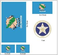 Fahnen Aufkleber Set USA - Oklahoma