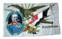 Fahne / Flagge Deutsches Reich Deutsche Grüße NEU 90 x 150 cm