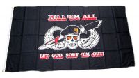 Fahne / Flagge Pirat Kill`em all 90 x 150 cm
