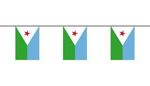 Flaggenkette Dschibuti 6 m