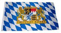Fahne / Flagge Freistaat Bayern Löwe Schrift 150 x 250 cm