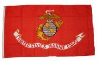 Fahne / Flagge USA - Marine Corps rot 90 x 150 cm