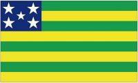 Fahne / Flagge Brasilien - Goiás 90 x 150 cm
