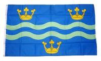 Fahne / Flagge England - Cambridgeshire blue 90 x 150 cm