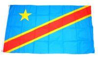 Flagge / Fahne Demokratische Republik Kongo Hissflagge 90 x 150 cm