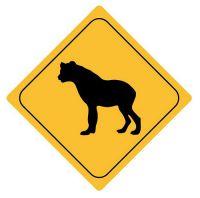 Aufkleber Sticker Achtung Hyäne Autoaufkleber