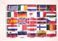 Bootsflagge Europa 25 Länder 30 x 45 cm