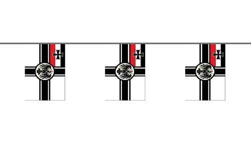 Fahnenkette Flagge Fahne Deutsches Reich Flaggenkette 6 m 8 Flaggen 30 x 45 cm