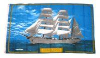 Fahne / Flagge Segelschiff Gorch Fock 90 x 150 cm