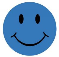 Aufkleber Sticker Smile blau