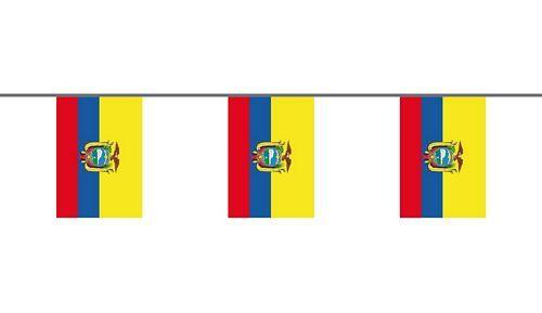 Flaggenkette Ecuador 6 m