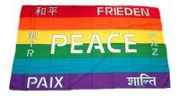 Fahne / Flagge Peace Schrift  30 x 45 cm