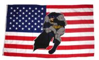 Fahne / Flagge USA - Batman 90 x 150 cm