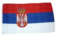 Flagge / Fahne Serbien Wappen Hissflagge 90 x 150 cm