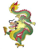 Aufnäher Patch Drache / Dragon