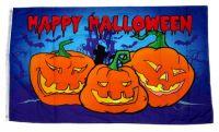 Fahne / Flagge Happy Halloween Kürbis 90 x 150 cm