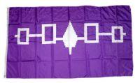 Fahne / Flagge Indianer - Irokesen Bund 90 x 150 cm