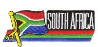 Fahnen Sidekick Aufnäher Südafrika