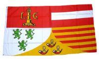 Fahne / Flagge Belgien - Provinz Lüttich 90 x 150 cm