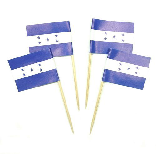 50 Minifahnen Dekopicker Honduras 30 x 40 mm