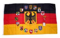 Flagge / Fahne Deutschland 16 Bundesländer Wappen Hissflagge 90 x 150 cm