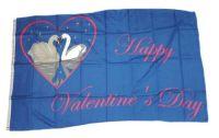 Fahne / Flagge Happy Valentins Day Valentinstag 90 x 150 cm