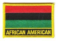 Fahnen Aufnäher Afro Amerikaner Schrift