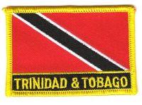 Fahnen Aufnäher Trinidad & Tobago Schrift