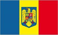 Fahne / Flagge Rumänien Wappen 90 x 150 cm