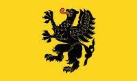 Fahne / Flagge Polen - Woiwodschaft Pommern 90 x 150 cm