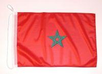Bootsflagge Marokko 30 x 45 cm