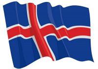 Fahnen Aufkleber Sticker Island wehend