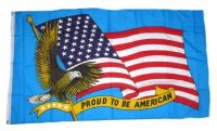 Fahne / Flagge USA - Proud to be American 90 x 150 cm