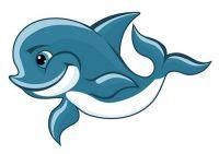 Aufkleber Sticker Delfin Autoaufkleber