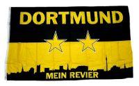 Fahne / Flagge Dortmund Mein Revier 90 x 150 cm