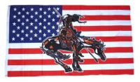 Fahne / Flagge USA - Indianer End of Trail 90 x 150 cm