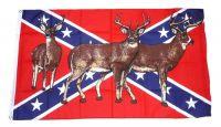 Fahne / Flagge Südstaaten - Hirsche 90 x 150 cm