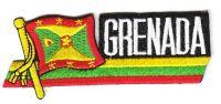 Fahnen Sidekick Aufnäher Grenada
