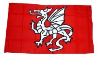 Fahne / Flagge Pentragon Drache 30 x 45 cm