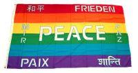 Fahne / Flagge Peace Frieden 90 x 150 cm