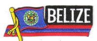Fahnen Sidekick Aufnäher Belize