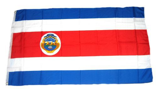 Flagge / Fahne Costa Rica Wappen Hissflagge 90 x 150 cm