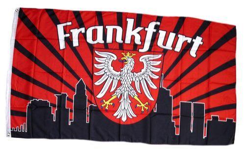 Fahne / Flagge Frankfurt Silhouette Fan 90 x 150 cm