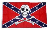 Fahne / Flagge Südstaaten - Totenkopf 90 x 150 cm