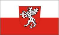 Fahne / Flagge Rot an der Rot 90 x 150 cm